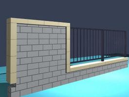 Garden fence 3d preview