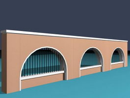 School fence 3d preview