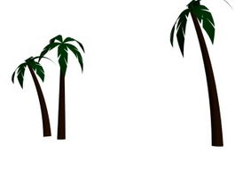 Palm tree 3d model preview