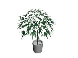 Artificial landscape tree 3d model preview