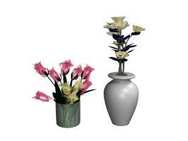 Interior decoration flower 3d model preview