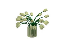 Flower Vase with lily 3d preview