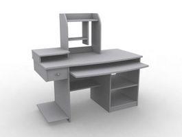 Combine computer desk 3d model preview