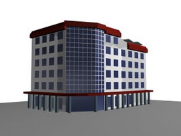Multi-storey office building 3d preview