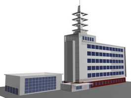 Enterprise office building 3d preview