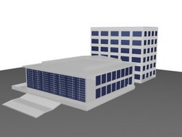 Commercial office building 3d preview