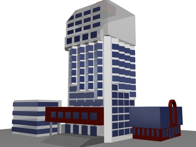 Government office building 3d rendering