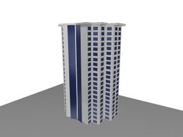 High-rise residential building 3d preview