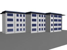 Residential architecture 3d model preview