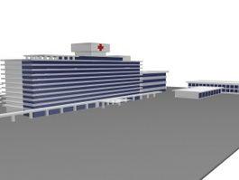 Hospital building 3d preview