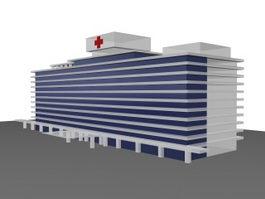 Outpatient service building 3d preview