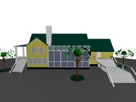 Residents housing 3d model preview