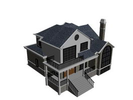 Detached dwelling house 3d model preview