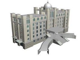 Hotel building 3d preview