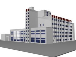Comprehensive office building 3d preview