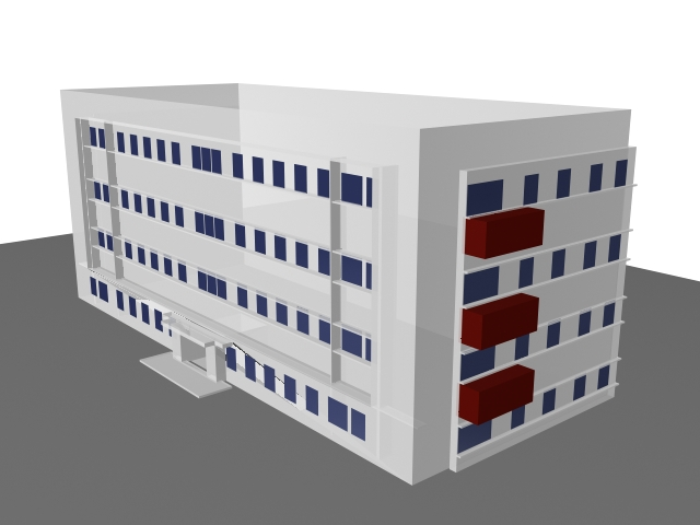 Teaching Laboratory Building 3d rendering