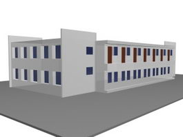 Experimental building for school 3d preview