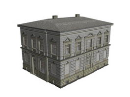 Old buildings 3d preview