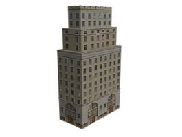 Multiple-living building 3d preview