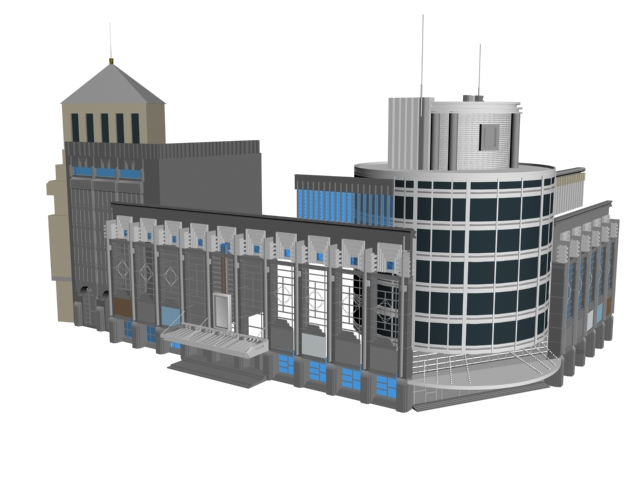Business office building 3d rendering