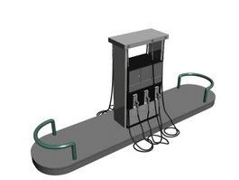 Cabinet fuel dispenser 3d model preview