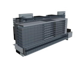 Multipurpose Building 3d model preview