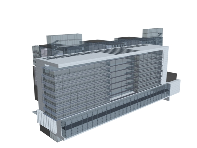 Multipurpose Building 3d rendering