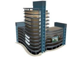 City commercial building 3d preview