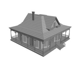 Residential villa 3d preview