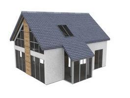 Rural residential 3d model preview