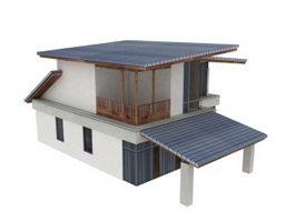 Rural folk house 3d model preview