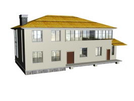 Countryside house 3d model preview