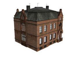 Block of flats 3d model preview