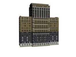 Business living building 3d model preview