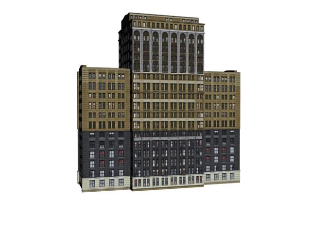 Business living building 3d rendering