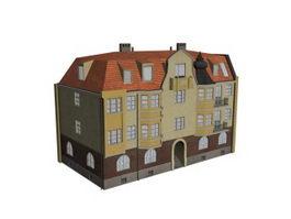 Flat apartment 3d model preview