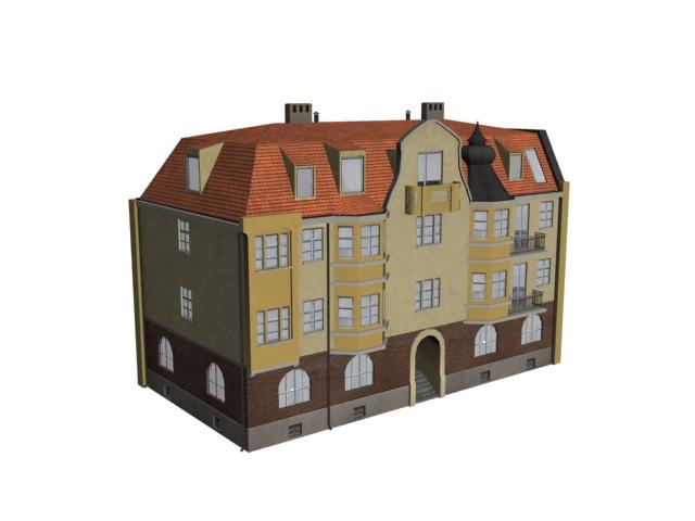 Flat apartment 3d rendering