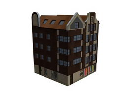 Apartment lodging house 3d preview