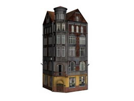 Apartment hotel 3d model preview