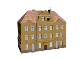 Dormitory building 3d model preview