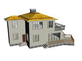 High grade residence 3d model preview