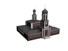 Palatial architecture 3d preview