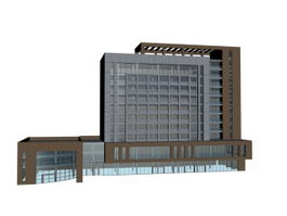 Business center building 3d preview