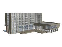 Headquarters building 3d model preview