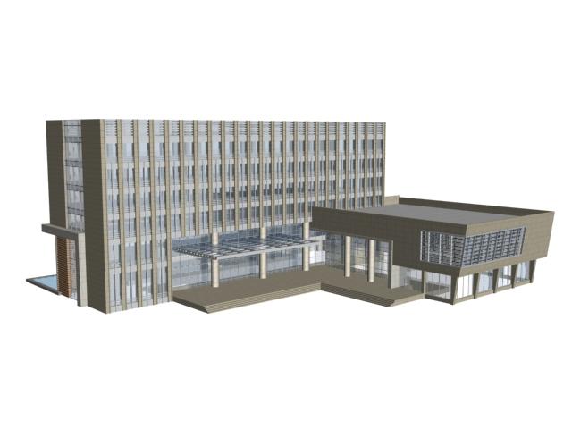 Headquarters building 3d rendering