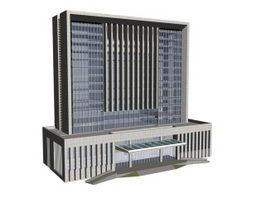 Government offices building 3d model preview