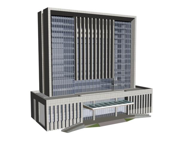 Government offices building 3d rendering