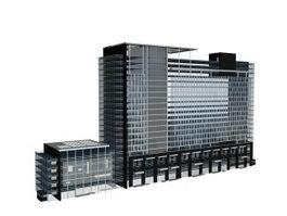 Commercial centre building 3d model preview