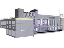 Modern office buildings 3d model preview