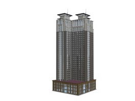 Multistory office building 3d preview